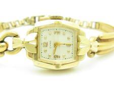 Vintage 14k Oro Amarillo Cyma Suizo Hecho Mujer Antiguo Sólido Enlace Reloj De