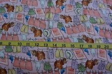 Beatrix Potter Twiggy Winkle CLOTHES LINE Pink Cotton Fabric BTY