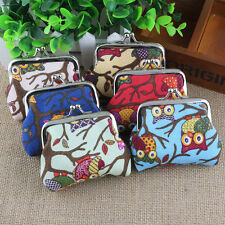 Popular Women's Nifty Cute Owl Printed Coin Purse Wallet Canvas Pouch Money Bag