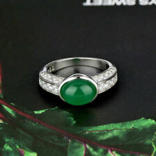 Jewelry Women Wedding Rings Oval Cut Emerald Ring Jewelry Gifts New