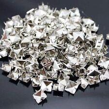 100x Pyramidennieten Nieten Niet Ziernieten aus Metall für Kleidung Vergoldet