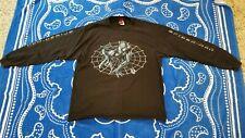 Rare Vintage 2002 Marvel Spider-Man Black Long Sleeved Shirt Size Large