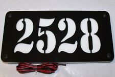 CUSTOM MODERN BACK-LIT ADDRESS SIGN ILLUMINATED HOUSE NUMBER LED ADDRESS PLAQUE