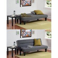 Futon Sofa Bed Couch Furniture Lounger Sleeper Dorm Living Room Modern Full Gray