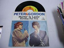 Peter & Gordon Hurtin' Is Lovin'/Sunday For Tea 45 RPM Capitol Records VG