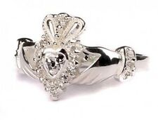 Sterling Silver Irish made April birthstone claddagh ring all sizes available