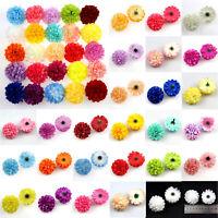 20Pcs Daisy Artificial Fake flower Silk Spherical Heads Bulk Wedding Party Decor