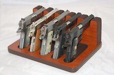 Pistol 5 Gun Rack Stand 503 Mahogany Brown Cabinet Safe