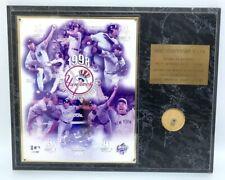 "1998 New York Yankees WORLD CHAMPIONS Baseball Team Plaque Sports History 15x12"""