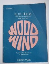 Flute Solos Volume 2 Woodwind Trevor Wye Chester Music