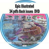 Epic Illustrated comics anthology heroic fiction and genre stories 34 pdf Dvd