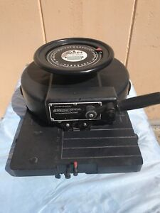 """USED MARSH STENCIL MACHINE COMPANY MODEL R1  ROTARY PUNCHCUTTER 1"""" INCH MILITARY"""