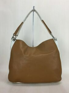 Used Bottega Veneta One Shoulder Bag Handbag Leather Cml Wht