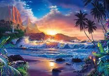 De Pared Gigante Mural Foto Wallpaper 366x254cm Sueño fantasía Tropical Beach Scene