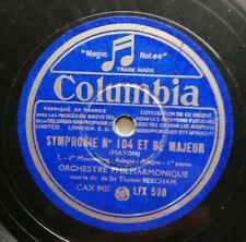 Réf22 Vinyle 78 Tours Columbia symphonie numéro 104 et ré majeur