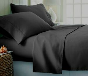 Luxor Impressions Rayon from Bamboo Sheet 300 TC ~ King/Cal King Flat ~ Gray