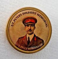 Badge WW1 Commander 10th Battalion Colonel Price Weir Original Brass Badge