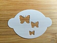 Face paint stencil reusable washable butterflies Mylar 2.5 in x 1.75