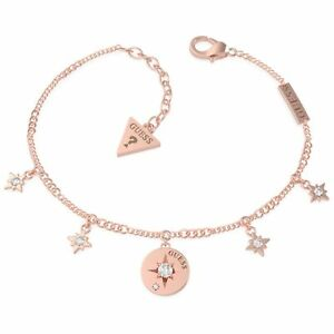 Guess UBB20032-L Rose Gold Tone Stainless Steel Compass & Crystal Bracelet