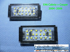 LED Set Kennzeichenbeleuchtung BMW 3er E46 CABRIO + COUPE Facelift
