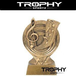 MUSIC 155mm RESIN trophy award ACHIEVEMENT winner runner up ENGRAVING INCLUDED