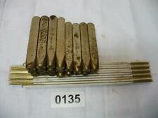 0135. Konvolut alte Schlagzahlen Schlageisen Punziereisen Punze 8 mm