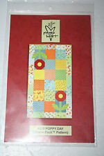 POPPY DAY Moda Charm Pack Pattern 438 Quilt Tablemat Sandy Gervais