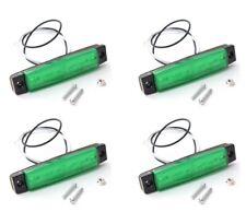 4 X SEGNALATORE LUCI INGOMBRO LED 12V COLORE VERDE, CAMION, RIMORCHI, CAMPER