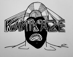 DAILY SKETCH:Original Ink Drawing 'Kamikaze' by Michelle Ranson