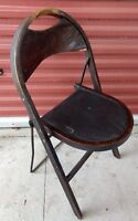 Vintage Stakmore Wood Folding Curved Back Chair Mid Century Great Craftsmenship