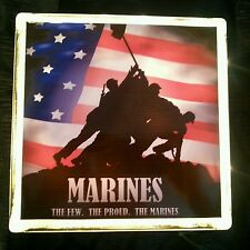 Lighted United States Marine Corps Glass Block Light~ Home Decor~Gift~Lamp