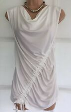 NEW NEXT 14 Tall Ladies Cream Ruche Front Sleeveless longline top work party