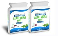 Aloe Vera 120 Max Capsules 6000mg High Strength Colon Cleanse Skin Care