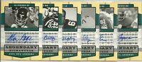 2004 UD Legendary Signatures Certified Autos: Choose NFL Legend Autographed Card