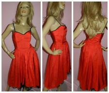 80s RED ASYMETRICAL PRINCESS PROM PARTY DRESS 10 S 1980s COCKTAIL KITSCH