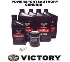 2006-2015 POLARIS Victory 100 y 106 in³ (approx. 1737.03 cm³) Kit de cambio de aceite de motor OEM 2879600