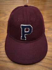 43d1be442f2 Polo Ralph Lauren Burgundy Maroon 6 Panel Letterman Flannel P Patch Wool Hat