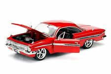JADA Fast And Furious 8 Dom's 1961 Chevrolet Impala 1:24 Red Diecast Car