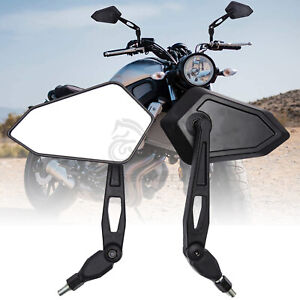 For Yamaha V-Star 250 650 950 1100 1300 Black Hand Motorcycle View Side Mirrors