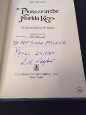 Pioneer in the Florida Keys by Ted Williams SIGNED DEL LAYTON 1976 Edition COA