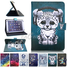 "Universal 7"" 8"" 10""Inch PU Leather & Shockproof Silicone Tablet Stand Case Cover"