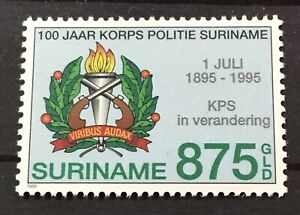 SURINAME SURINAM # 1018. SURINAM POLICE FORCE CENTENNIAL  MNH