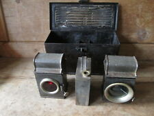 Cycle lamp set.Front and rear paraffin lamps. bicycle lamps.