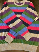 NWT Turtleson Merino Wool Striped Sweater, XL