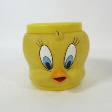 More details for tweetie pie 3d mug/cup bird face plastic warner bros looney tunes vintage 1992