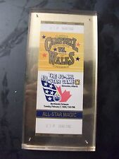 Full Ticket For 40Th Nhl All-Star Game In Edmonton Wayne Gretzky Mvp,Vip Seating