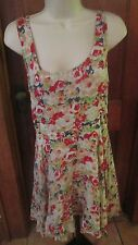 Lucca Couture Multi Color Floral Print Sleeveless Summer Dress Lined Size 10