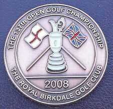 2008 OPEN LARGE BRONZE COMMEMORATIVE COIN GOLF BALL MARKER ROYAL BIRKDALE CLUB