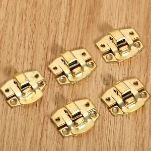 Gold Jewelry Box Hasp Suitcase Chest Cabinet Lock Latch Clasp Fitting Decorative