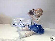 Royal Copenhagen Figurine - Bimba Con Lo Specchio - Royal Copenhagen Statuina